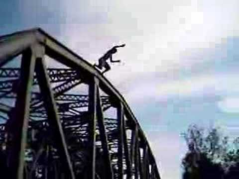me jumping off a 50 ft bridge