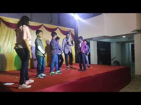Chennai Anchor Lambo Kanna Interaction With Kids After Performance On New Year 2019 At Amity Apartme