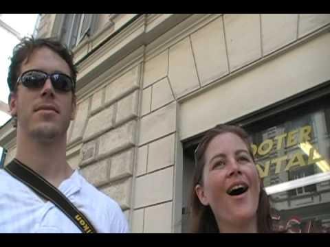 Honeymooners on the return of the Axum Obelisk Rome 2008