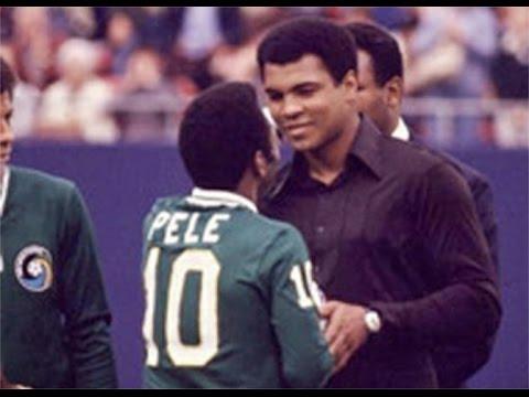 Pelé y Muhammad Ali Leyendas Del Deporte Muhammad Ali y Pelé Encuentro Entre 2 Grandes