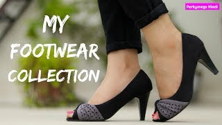 मेरा Footwear Collection | Heels/ Flats/ Shoes | Perkymegs Hindi