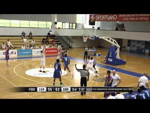 Ben Kovac Highlights Luxembourg National Team  - U18 FIBA European Championship Division B 2017