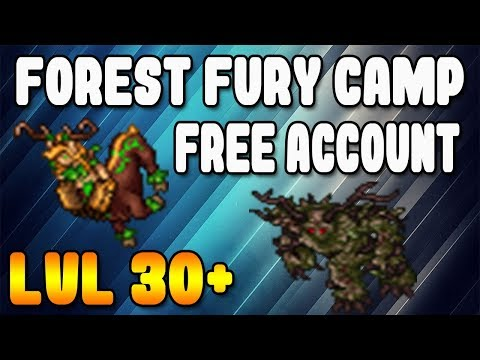 FREE ACCOUNT | Forest Fury Camp | Lvl 30+ - Tibia (esp)