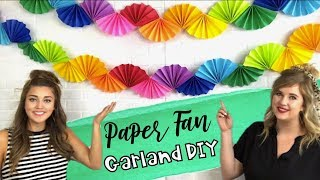 How to Make a Paper Fan Garland | Paper Fan Garland DIY | Happily Ever Elementary