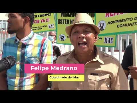 Acción Comunitaria y Exempleados exigen renuncia Alcalde Manuel Jiménez
