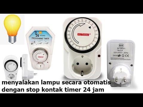 stop kontak timer 24 jam untuk lampu halaman rumah otomatis nyala sendiri