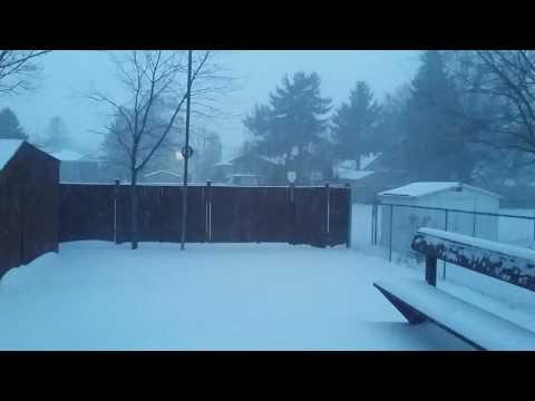 Winter Storm March 13th 2017 Hamilton Ontario Canada