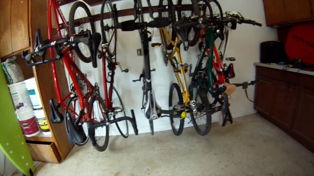 iheart family garage august bicycle organizing bike update hangingbikes tuesday storage
