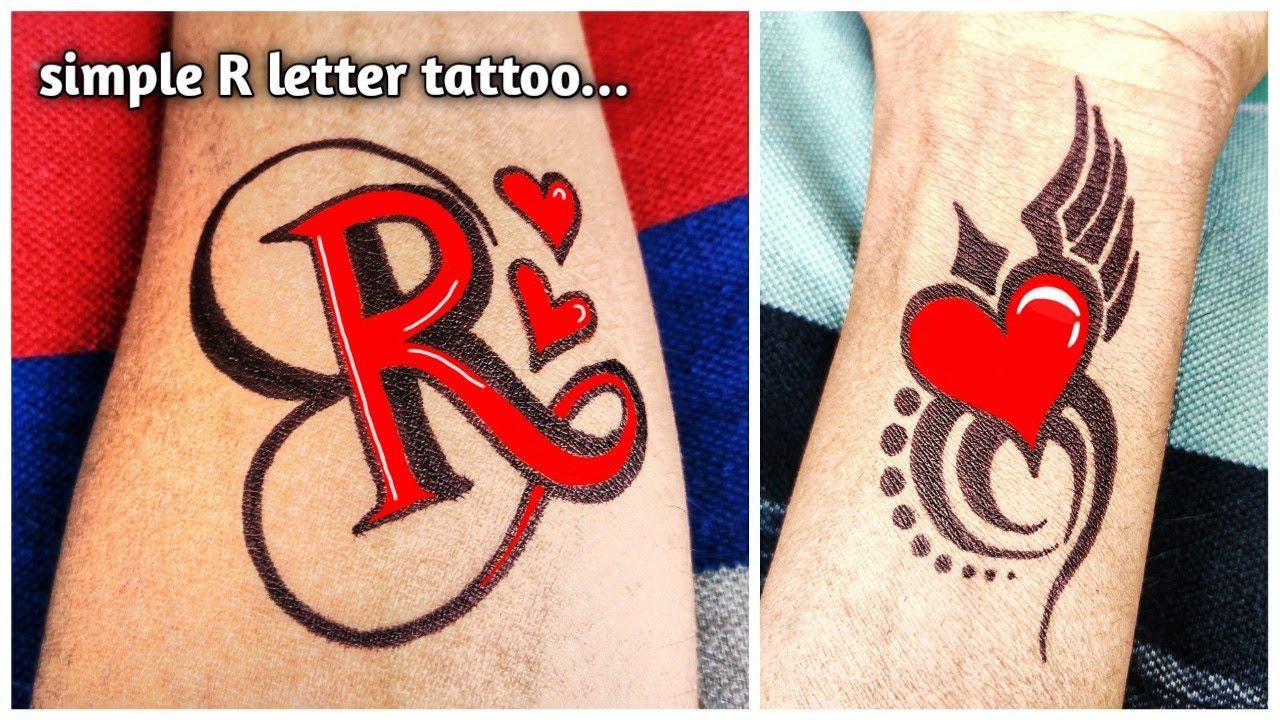 Pin On Mehndi Designs R name tattoo wallpaper