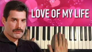 Queen - Love Of My Life (Piano Tutorial Lesson) [PART 2]