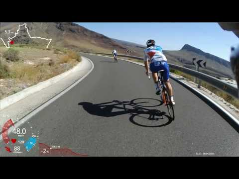 Gran Canaria cycling with Thibaut Pinot