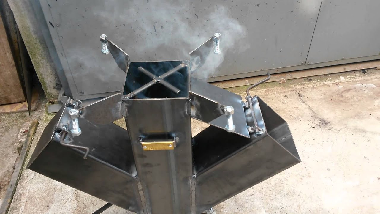 Cocina rocket bernel youtube for Planos para fabricar una cocina cohete