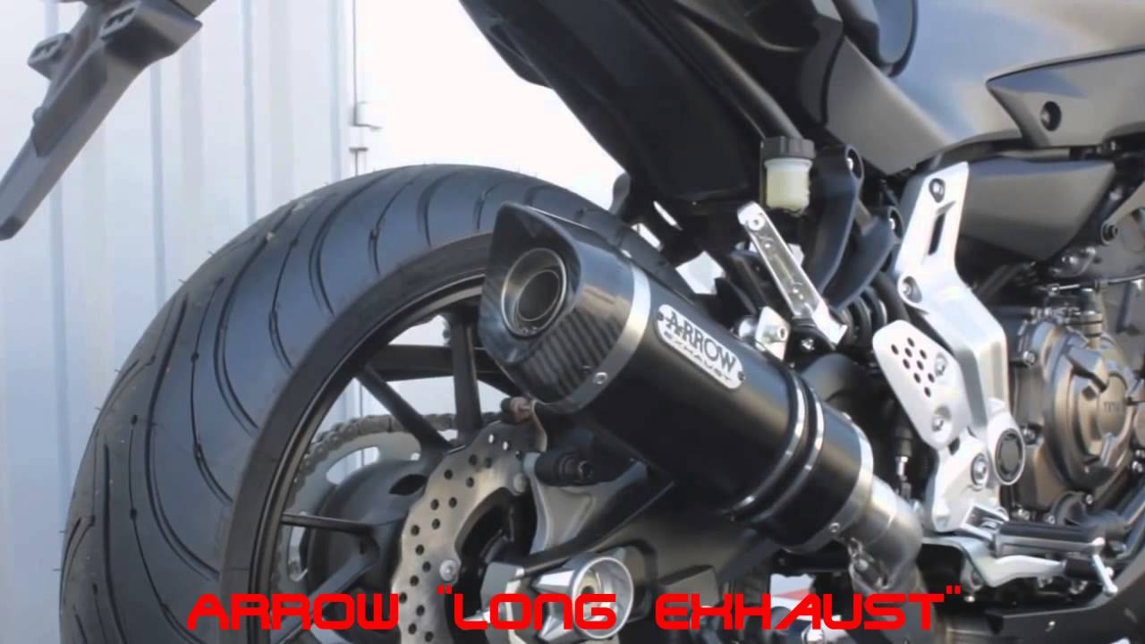 yamaha mt 07 exhausts sounds soundcheck