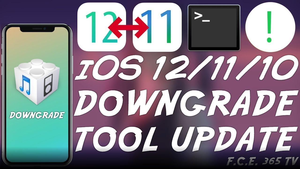 iOS 12 / iOS 11 / iOS 10 DOWNGRADE:
