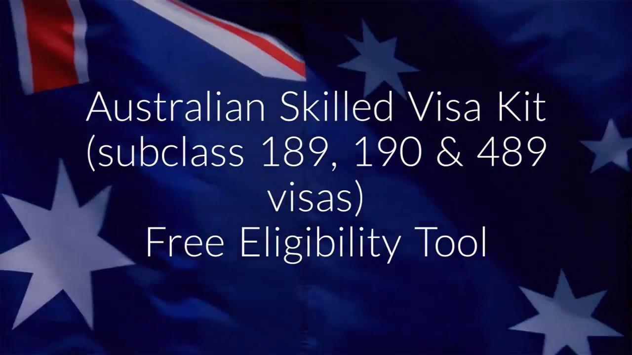 Australia Skilled MIgration Kits - 189 Visa, 190 Visa, 489 Visa