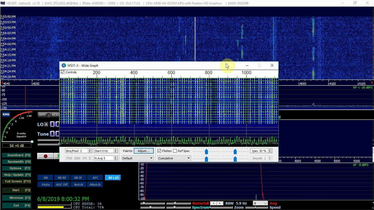 HDSDR Decoding FT8 With WSJT-X And Grid Tracker – Fuzz The