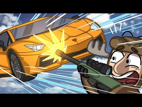 SNIPERS VS SUPERCARS!!  GTA 5 Funny Moments