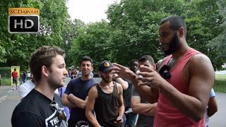 P1 - Who made you!? Mohammed Hijab Vs Canadian Agnostic | Speakers Corner | Hyde Park