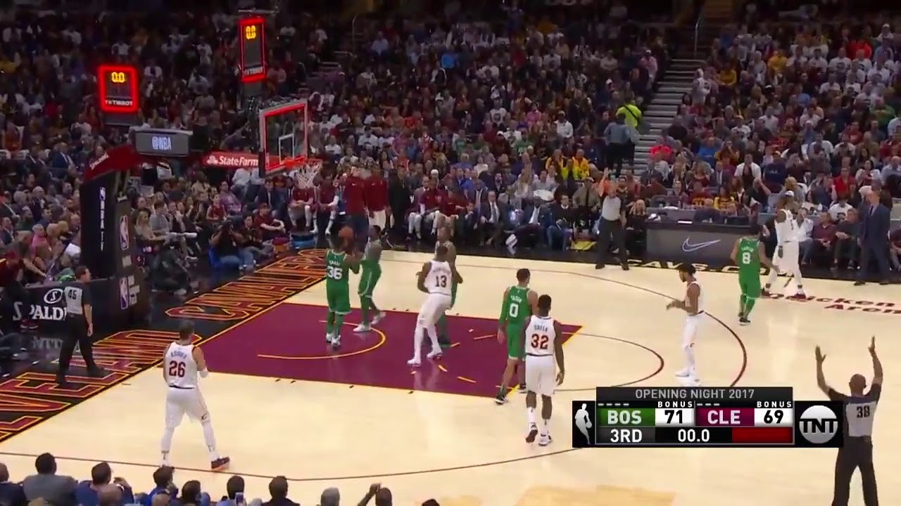 7d3db60f2417 Derrick Rose 3rd Quarter Buzzer Beater Cavs Vs Celtics 10-17-17 ...