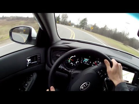 2012 Kia Optima Hybrid WR TV POV Test Drive