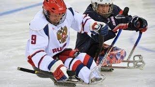 ПАРАЛИМПИАДА 2014  Следж-хоккей СБОРНАЯ  РОССИИ ПОБЕДИЛА!!! СБОРНУЮ США.