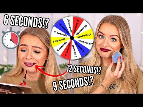MAKEUP ROULETTE!! TIME PRESSURE CHALLENGE.. 5 SECONDS, 60 SECONDS.. WHO KNOWS?! thumbnail
