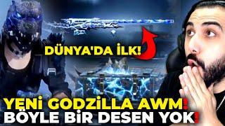 OHA!! 😮 YENİ GODZİLLA AWM EFSANE!!! BÖYLE BİR DESEN GÖRMEDİNİZ! | PUBG MOBILE