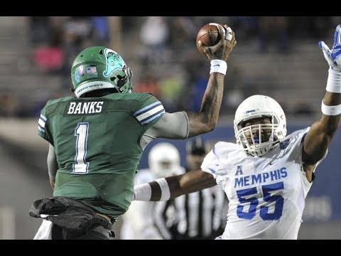 2018 American Football Highlights - Tulane 40, Memphis 24