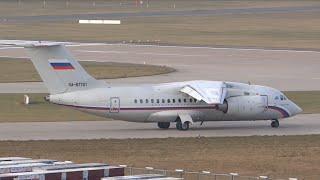 Rossiya Antonov AN148 takeoff from Hamburg!