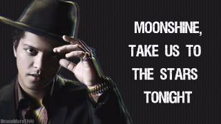 Repeat youtube video Bruno Mars - Moonshine  (Lyrics)