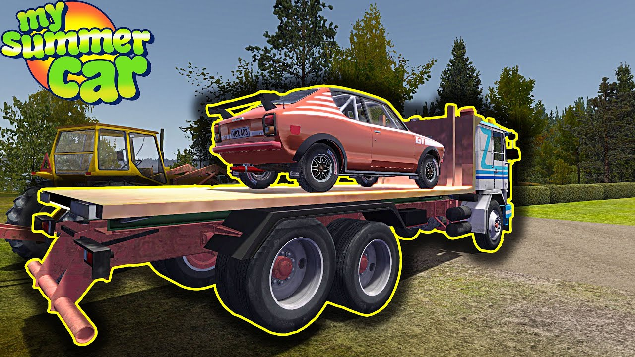 GIFU FLATBED – FOR TRANSPORTING CARS AND USEFUL FOR WORK – My Summer Car (Mod) #214 | Radex