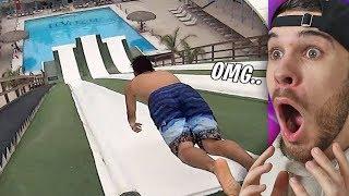 Er hat den Pool verfehlt... HILFE!!