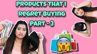 Products that I regret Buying Part 3  - fake bangs , extensions & makeup etc. | Anishka Khantwaal |