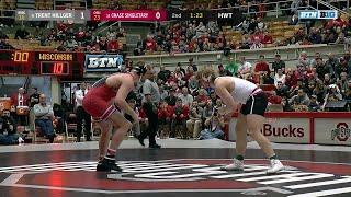 HWT: #9 Trent Hillger (Wisconsin) vs. Chase Singletary (Ohio State) thumbnail