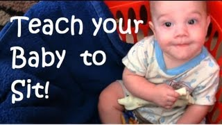 Teach your Baby to SIT alone - Alternative to Expensive Chairs