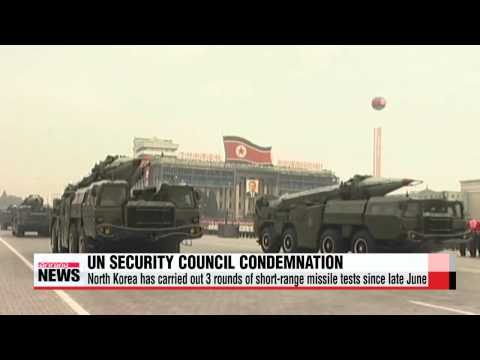 UN Security Council condemns North Korea's short-range missile tests