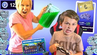 Slime Prank on Fortnite Kid by Angry Mom - Free V Bucks & PS4! | DavidsTV