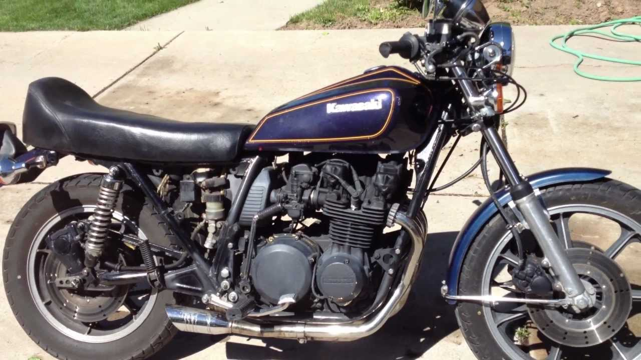 Starting my 1979 KZ650sr for the first time! - YouTube