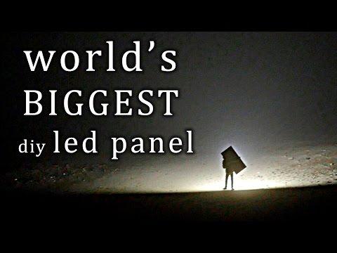 Download Youtube: The largest LED panel I've built so far...