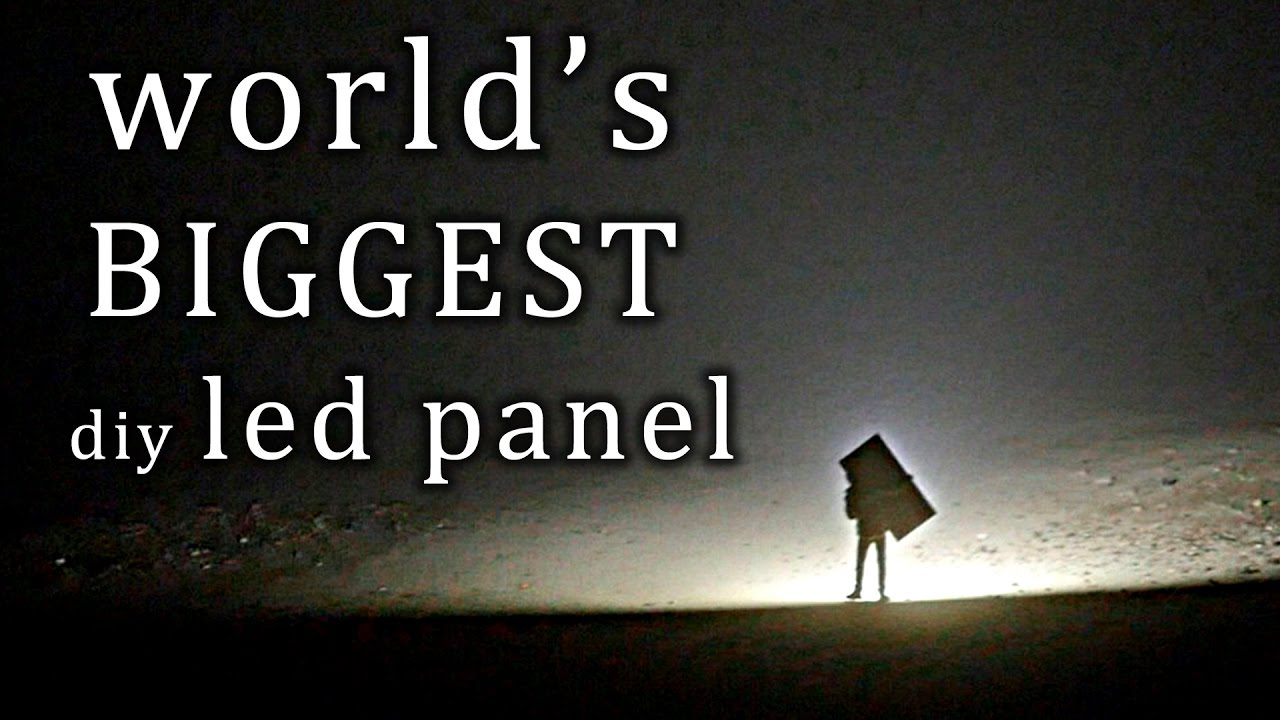 the largest led panel i 39 ve built so far youtube. Black Bedroom Furniture Sets. Home Design Ideas