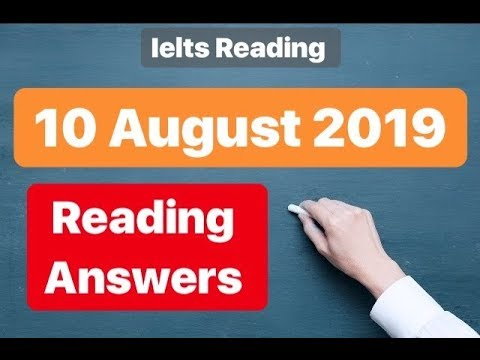 10 August 2019 Ielts reading answers IDP |BC| The invigilator