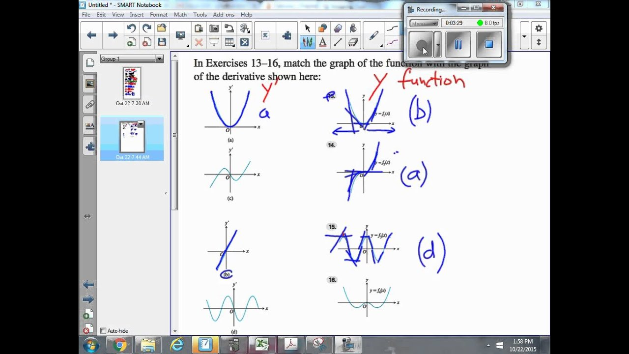 Match The Graph Of A Function With The Graph Of A