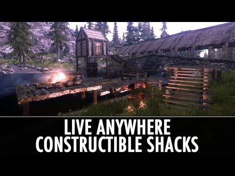 Skyrim Mod: Live Anywhere - Constructible Shacks