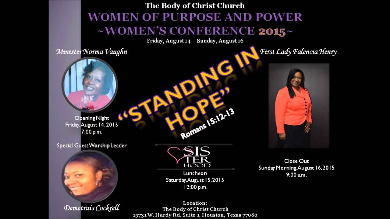 Women of Purpose and Power Women39s Conference 2015