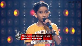 Vishwaprasad Ganagi | The Voice India Kids | Blind Audition | Chand Sifarish Lyrical Song