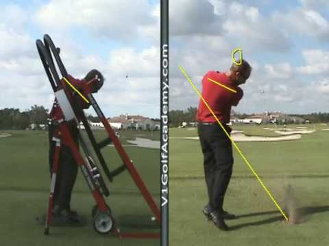 golf swing plane machine