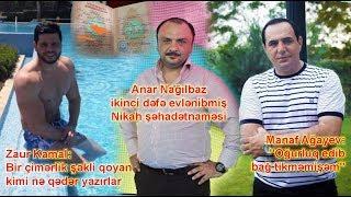 """Zaur Kamal çimərlik geyimində,  """"Oğurluq edib bağ tikməmişəm"""" - Manaf Ağayev"""