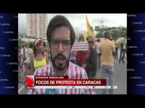 Venezuela: Dirigentes opositores registran focos de protesta en Caracas
