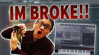 IM BROKE! Making A Beat In FL Studio Using ONLY SYTRUS PRESETS!