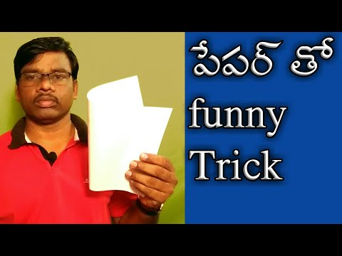 funny trick with paper pipe/Telugu tricks